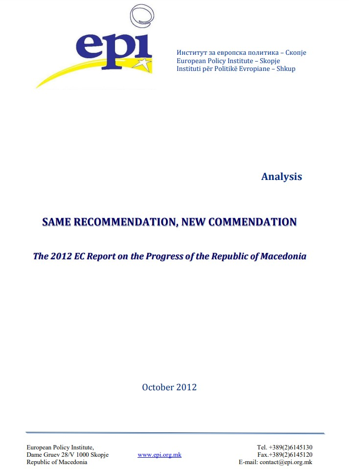 Analysis: Same Recommendation, New Commendation