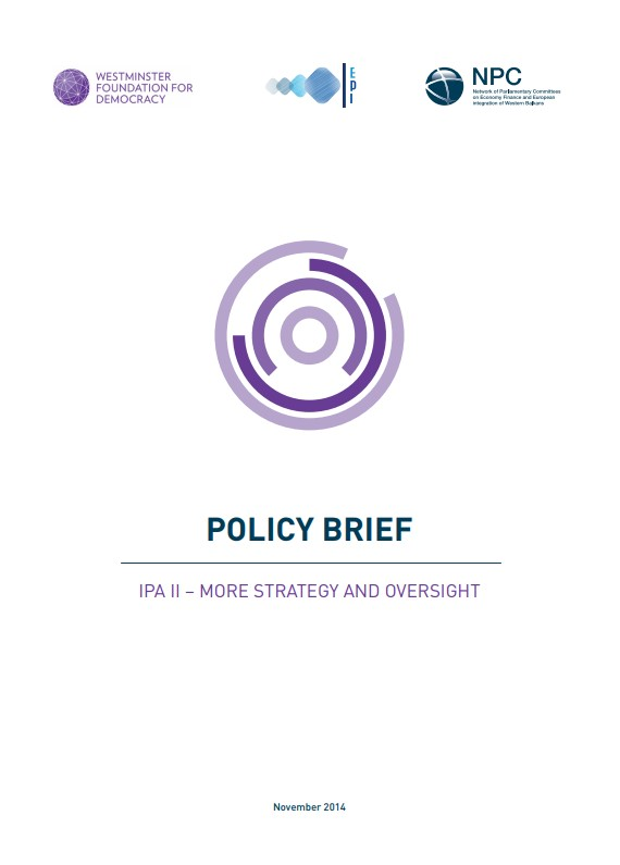 Policy Brief: IPA II – More Strategy and Oversight