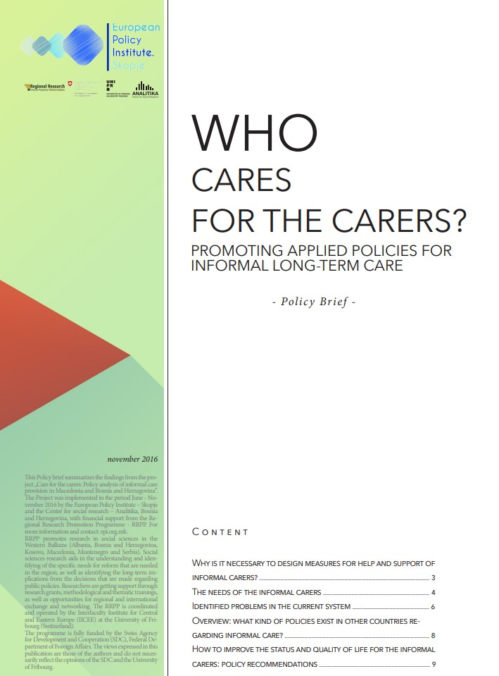 Who cares for the carers? – policy brief