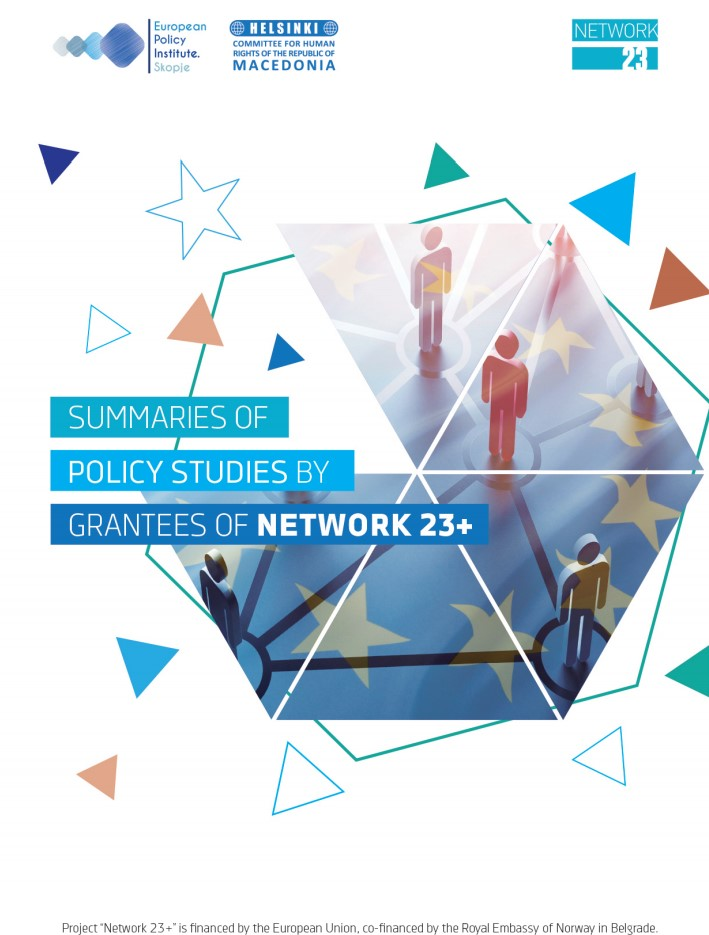 Summaries of policy studies by grantees of Network 23+
