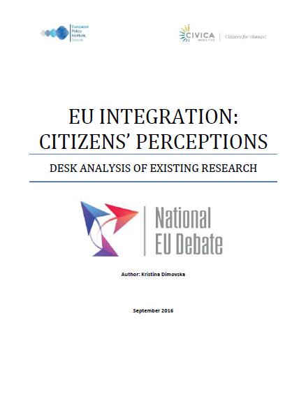 EU Integration: Citizens' perceptions (desk analysis)