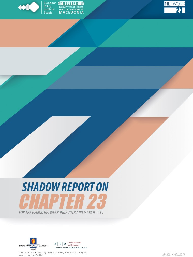 Shadow Report on Chapter 23 for the period between June 2018 and March 2019
